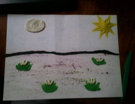 Конспект занятия по лепке в старшей группе «Весенний пейзаж»